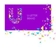 U λογότυπων επιστολών τριγώνων Στοκ εικόνα με δικαίωμα ελεύθερης χρήσης
