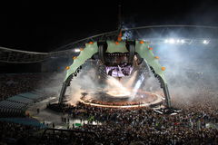 U2 στη συναυλία στοκ εικόνες