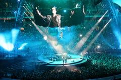 U2 στη συναυλία στοκ φωτογραφία με δικαίωμα ελεύθερης χρήσης