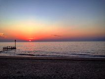 U του Norfolk ηλιοβασιλέματος παραλιών Κ Στοκ Φωτογραφίες