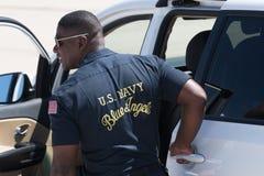 U Член ангелов син военно-морского флота s на авиасалоне Miramar Стоковые Изображения