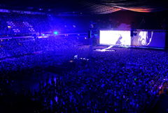U2音乐会在阿姆斯特丹竞技场在2017年7月 免版税库存图片