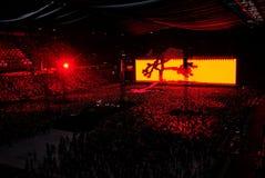 U2音乐会在阿姆斯特丹竞技场在2017年7月 库存照片