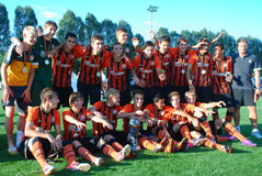 U-17 Shakhtar team at full strength Royalty Free Stock Image