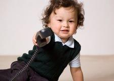 U aan telefoon! Stock Foto