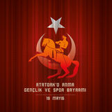 ` u Anma Genclik VE Spor Bayrami d'Ataturk de 19 mayis Photo stock