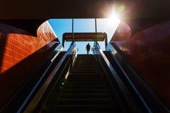 U-Bahn驻地入口在柏林,德国 免版税库存照片