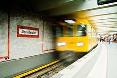 U-Bahn驻地Alexanderplatz 库存照片