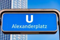 U-Bahn Alexanderplatz Berlin Stockbilder