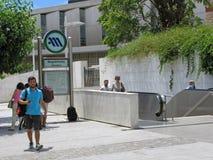 U-Bahn in Athen Stockfoto