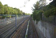 U-Bahn-Bahnen Lizenzfreie Stockfotos