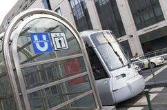U-bahn in Dusseldorf, Deutschland Lizenzfreie Stockfotos