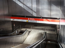 U-Bahn-Eingang stockfotografie