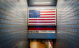 U-Bahn-Eingang in Boston lizenzfreie stockfotos
