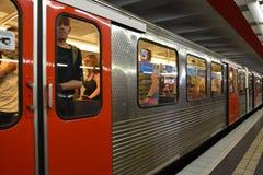 U-Bahn em Hamburgo, Alemanha Imagem de Stock Royalty Free