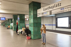 U Bahn em Munich Foto de Stock Royalty Free