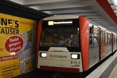 U-Bahn i Hamburg, Tyskland Arkivfoton