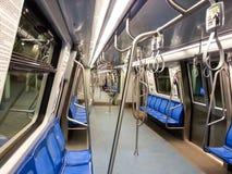 U-Bahn innerhalb des Komforts Stockbilder