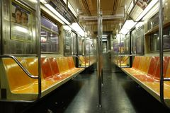 U-Bahn New York City Manhattan USA-Sitz stockfotos