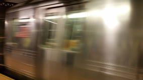 U-Bahn-New- Yorkunschärfeansicht stockbilder