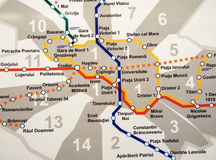 U-Bahn-Plan Stockbilder