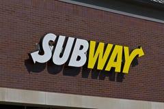 U-Bahn-Sandwich-relative Satznummer I Stockfotografie
