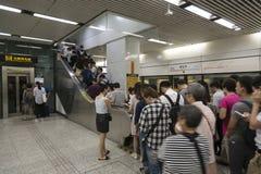 U-Bahn in Shanghai, China Stockfotos