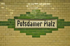 U-Bahn Sign Potsdamer Platz, Berlin Stock Photo
