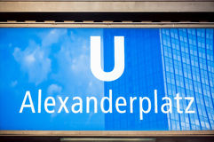 U-Bahn station Alexanderplatz in Berlin Stock Images