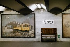 U-bahn station. In Berlin Germany Stock Images