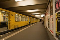 U-Bahn train Stock Image