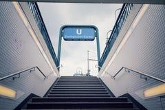 U-Bahn Zoologischer Garten subway station, Berlin, Germany. U-Bahn Zoologischer Garten rapid transit subway station near Kaiser Wilhelm Memorial Church in Berlin Stock Images