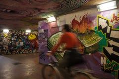 U-Bahngraffiti Stockbild