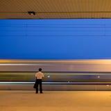 U-Bahnstation (Bewegung geverwischt) Stockfoto
