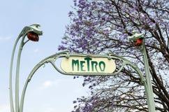 U-Bahnstation Guimard-Art Mexiko City Lizenzfreie Stockbilder