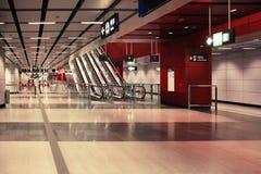 U-Bahnstation in Hong Kong Stockfotos