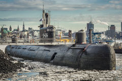 U-barco Hamburgo Imagens de Stock