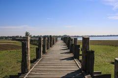 U bein桥梁Amarapura,缅甸缅甸 库存照片