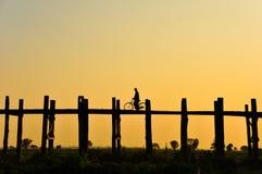 U bein Brücke, Birma Stockbilder