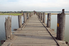 U-Bein Bridge Royalty Free Stock Photos