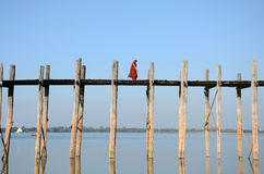 U-Bein Bridge. In Mandalay,Myanmar Stock Photography