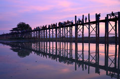 U-Bein Bridge. In Mandalay,Myanmar Royalty Free Stock Image