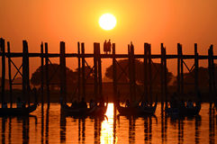 U Bein Bridge Stock Image