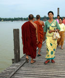 U-Bein bridge in Amarapura, Mandalay, Myanmar Stock Photo