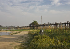 U Bein Bridge in Amarapura Royalty Free Stock Image