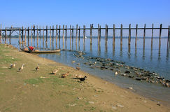 U Bein Bridge, Amarapura, Myanmar Stock Photography