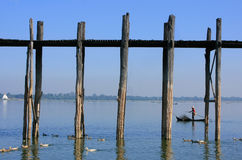U Bein bridge, Amarapura, Myanmar Stock Photos