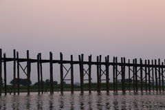 U-bein Bridge @ Amarapura Royalty Free Stock Photo
