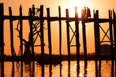 U Bein Bridge Royalty Free Stock Photography