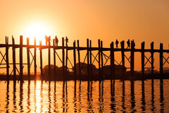 U Bein Bridge Stock Photos